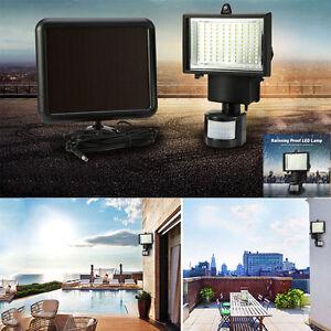 100 led solar pir bewegungsmelder solar flutlicht fluter strahler au en leuchte ebay. Black Bedroom Furniture Sets. Home Design Ideas