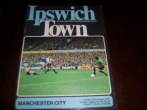 Ipswich v Manchester Man City 29 nov 1977 League Cup round 4 - <span itemprop=availableAtOrFrom>Stockport, United Kingdom</span> - Ipswich v Manchester Man City 29 nov 1977 League Cup round 4 - Stockport, United Kingdom