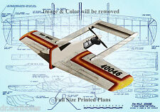 """Model Airplane Plan 49"""" .35 Control Line Canard Wild Goose Full Size Printed"""