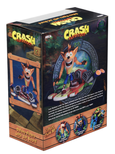 Crash Bandicoot with Hoverboard 7 7 7 Inch 18cm Deluxe Box Action Figure Neca 1a9f07