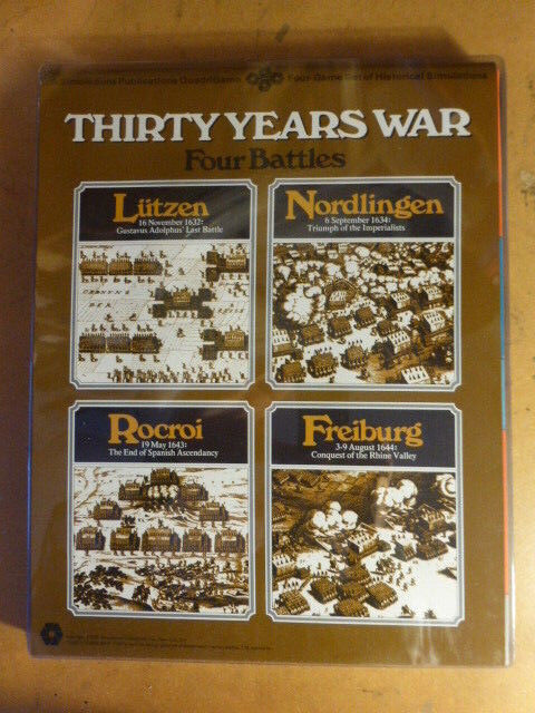 Thirty Years War Quad COMPLETE by SPI Lutzen     Nordlingen   Rocroi   Freiburg 99d4ec