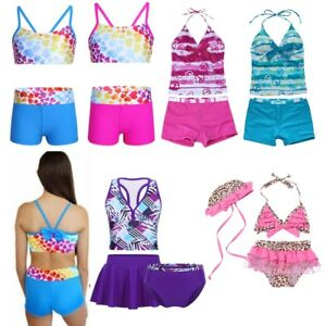 de97aa73bd8b1 Image is loading Toddler-Kids-Baby-Girls-Swimsuit-Swimwear-Swimming-Bikini-