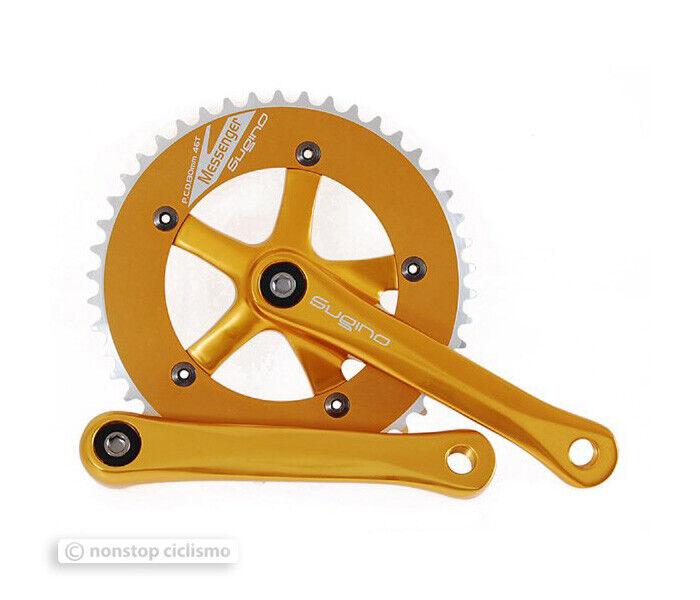 NEW Sugino MESSENGER RD Single Speed Track Crankset 46T 165mm 1 8  Gold