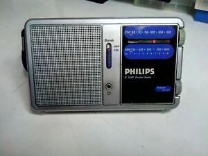 Radio PHILIPS D 1440 d1440 pocket portatile con antenna telescopica funzionante