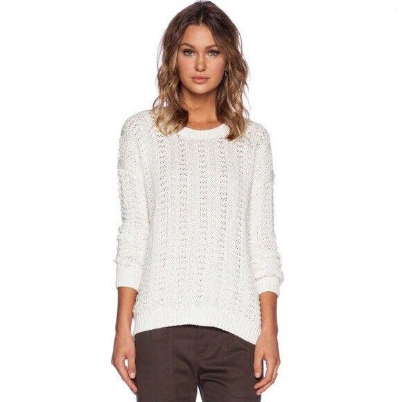 NWT  Vince Mercerized Textured Sweater cream XL