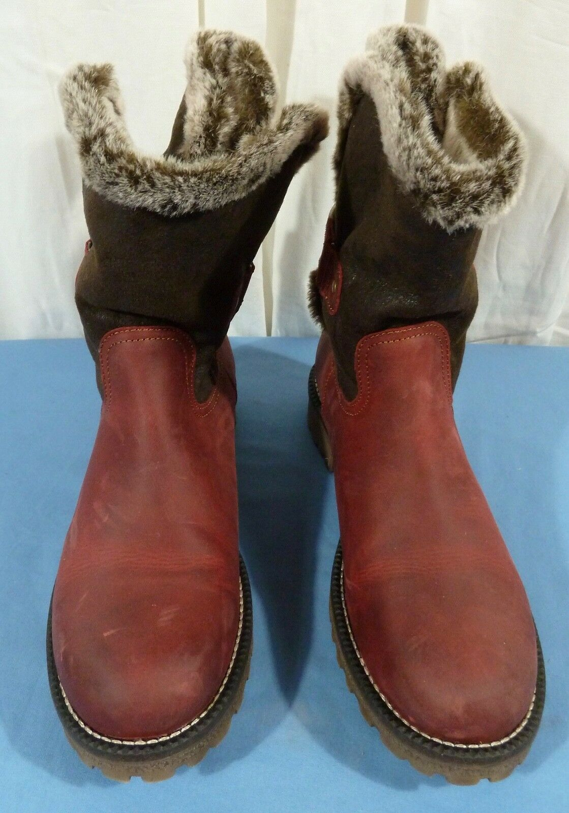 Bos. & Co. Women's Candy Snow Boot Red Size US 11 M
