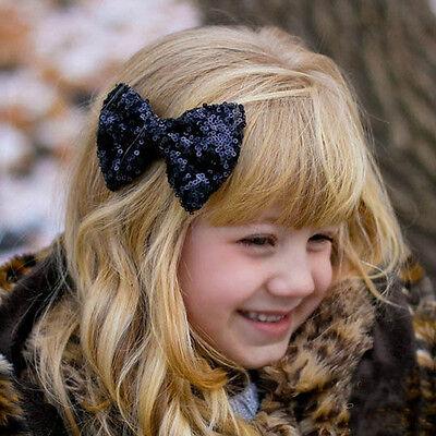 Toddler Children Baby Girls Sequin Bow Barrettes Hair Clip Hairpin Accessories