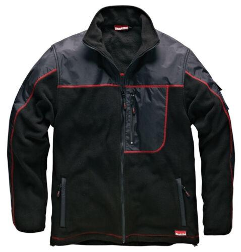 REDUCED Makita AVT Fleece Jacket Comfortable Casual Black Warm Multi Pocket New