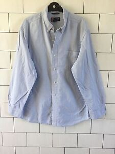 MENS-VINTAGE-RETRO-LONG-SLEEVED-RALPH-LAUREN-CHAPS-STRIPE-CASUAL-SHIRT-SIZE-XL