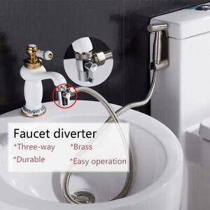 Water Tap Connector Faucet Adapter Diverter Valve Kitchen Sink Splitter