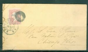 US-COVER-1863-CANCELLED-MAY-2-1863-ROCHESTER-N-Y