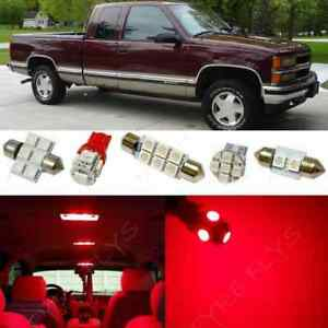 Details About 14x Red Led Light Interior Package 1995 1998 Chevy Silverado Gmc Sierra Cs5r