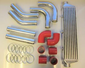 "2.5/"" Universel Aluminium Race Drift Turbo Front Mount Intercooler Kit FMIC"