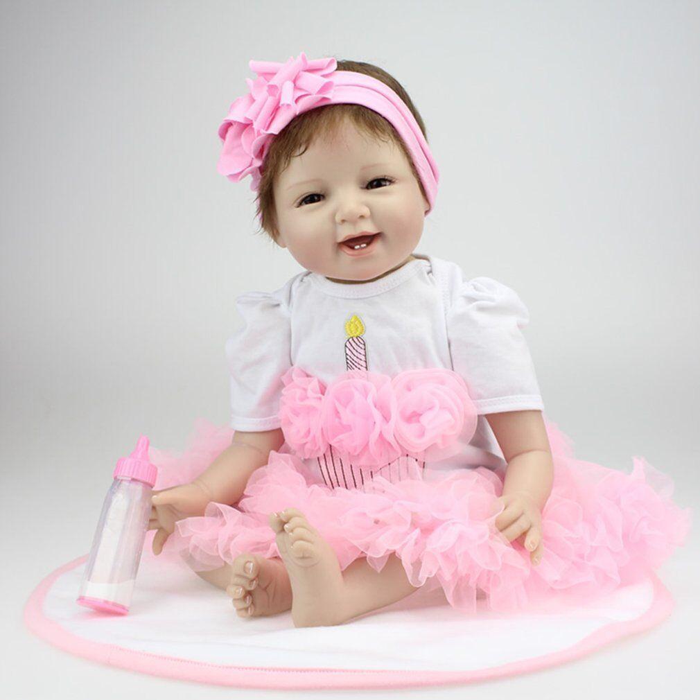 22  Smile Face  Reborn bambino bambolas Alive Lifelike bambolas Realistic Bebe tH  design unico