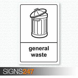 General-Waste-Sticker-Recycling-Sticker-Self-Adhesive-100mm-x-150mm