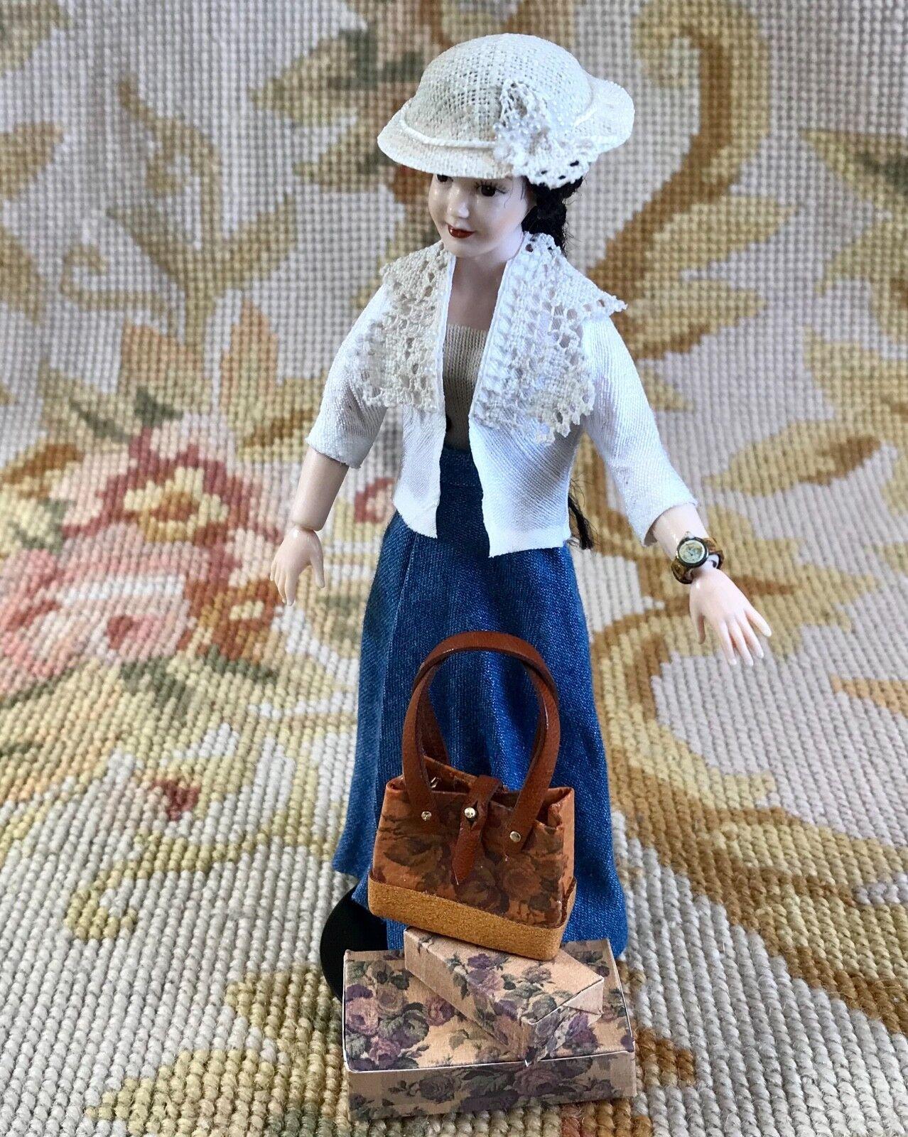 Pat Tyler Doll Skirt Top Blouse Skirt Hat Clothing Wearabl Outfit Heidi Ott p430