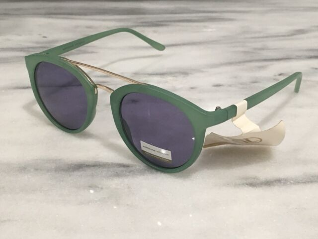 263d5b1285 NWT Adrienne Vittadini Sunglasses mod. AV1056 339 Aviator Designer Green  Gold