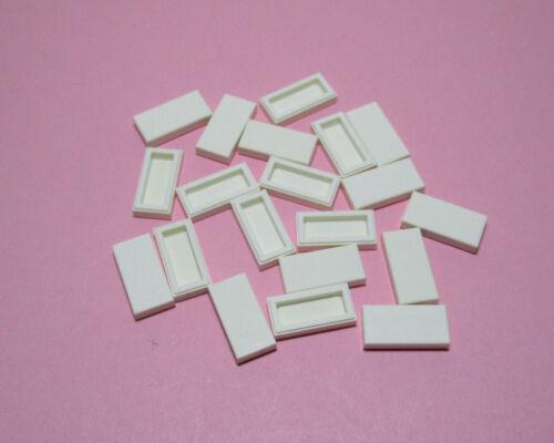 LEGO City Basic  Fliesen 1 x 2 Weiss 20 Stück   #  3069  Neu
