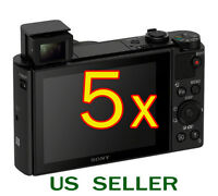 5x Clear Lcd Screen Protector Guard Film For Sony Cybershot Dsc-hx90v Camera