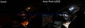 PACK-LED-Citroen-SAXO-Ampoules-LED-Pour-Veilleuses-Interieur-Plaque