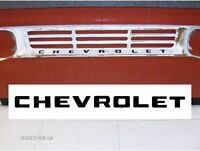 60 & 62 Chevy Truck Pickup Chevrolet Grill Decal Letters 1960 & 1962