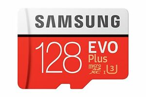 NUOVO Samsung 128GB Micro Sd SDXC U3 CLASSE 10 Scheda di memoria EVO 100MB/S Genuine Plus