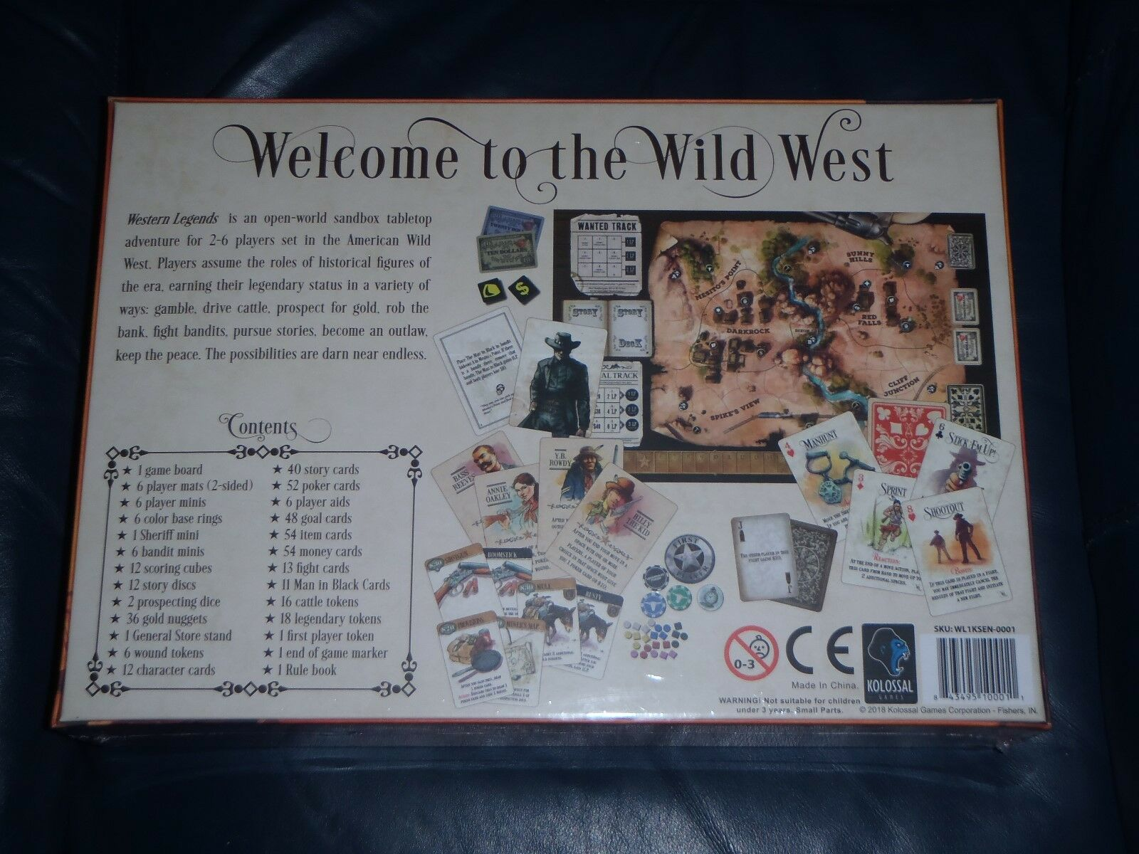 Kolossal WESTERN LEGENDS Board Game      NEW + SEALED  22ee9d