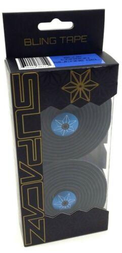 Supacaz Bling Road Bike Handlebar Bar Tape With Silicone Gel Blue Carbon