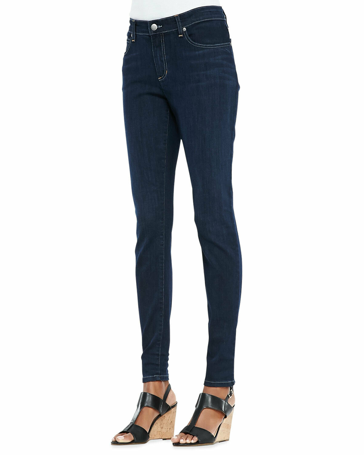 Eileen Fisher Washed Indigo Organic Cotton Soft Stretch Skinny Jeans 22w