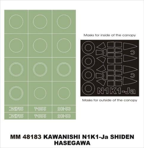 Montex Maxi Mask 1:48 N1K1-Ja Shiden for Hasegawa JT 89 Spencil #MM48183