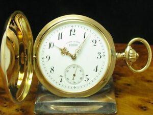 A-Lange-amp-Soehne-18kt-750-Gold-Savonette-Taschenuhr-von-1898-Kaliber-43