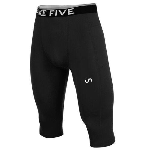 Take Five Mens Side Pocket Skin Tight Compression Layer 3-Quater Pants Z826