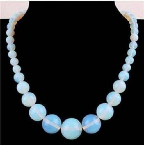 "RARE 6-14 mm Naturel Sri Lanka Moonstone Gemstone Round Beads Necklace 17/"""