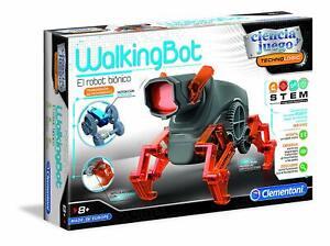 """Clementoni 55289. Ciencia y juego. Walking Bot """"El Robot Biónico"""". Más de 8 años"""