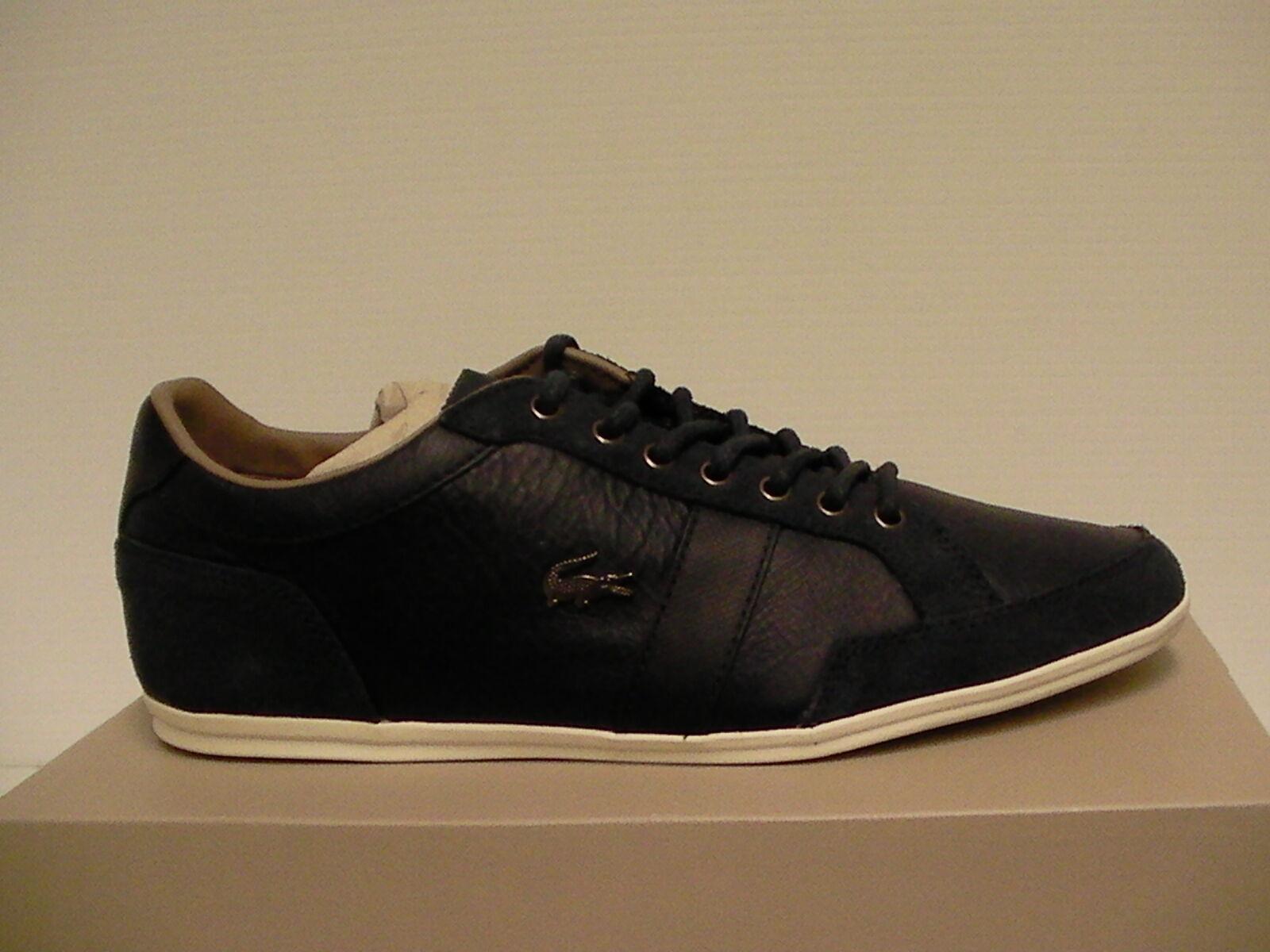 kilpailukykyinen hinta uusi korkea suorituskykyiset urheiluvaatteet Lacoste casual shoes alisos 23 spm navy leather/suede size 9 us men