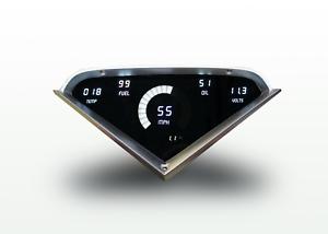 57 Chevy Bel Air Digital Dash Panel White LED Gauges Lifetime Warranty USA Made