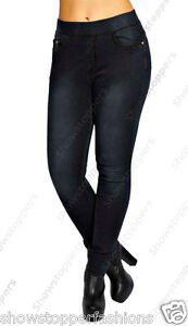 ea3c258caad34 neuf grande taille Noir pour femmes SKINNY JEANS EXTENSIBLE FIN ...
