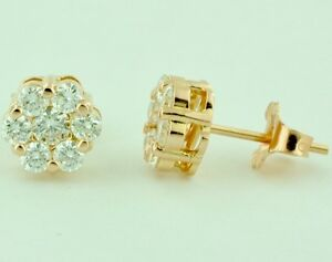 33458b7b94 1.00 ct 14k Solid Rose Gold Natural Diamond Stud Earring Round ...