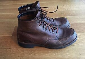 Red-Wing-Mens-4183-Roughneck-6-Moc-Toe-Brown-Leather-Boots-US-12-D-270