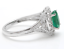 1-70Ct-Natural-Emerald-amp-Diamond-14K-Solid-White-Gold-Ring thumbnail 3