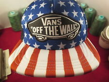 d3c03e1a85e Vans Off The Wall Classic Patch Stars Stripes USA Cap Trucker Red Blue White