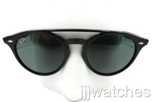 Image is loading New-Ray-Ban-Clubround-Polished-Black-Green-Classic- fd22ba8df2