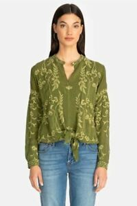 Johnny-Was-Sahsa-Tie-Front-Embroidered-Top-Boho-Chic-C11719-NEW