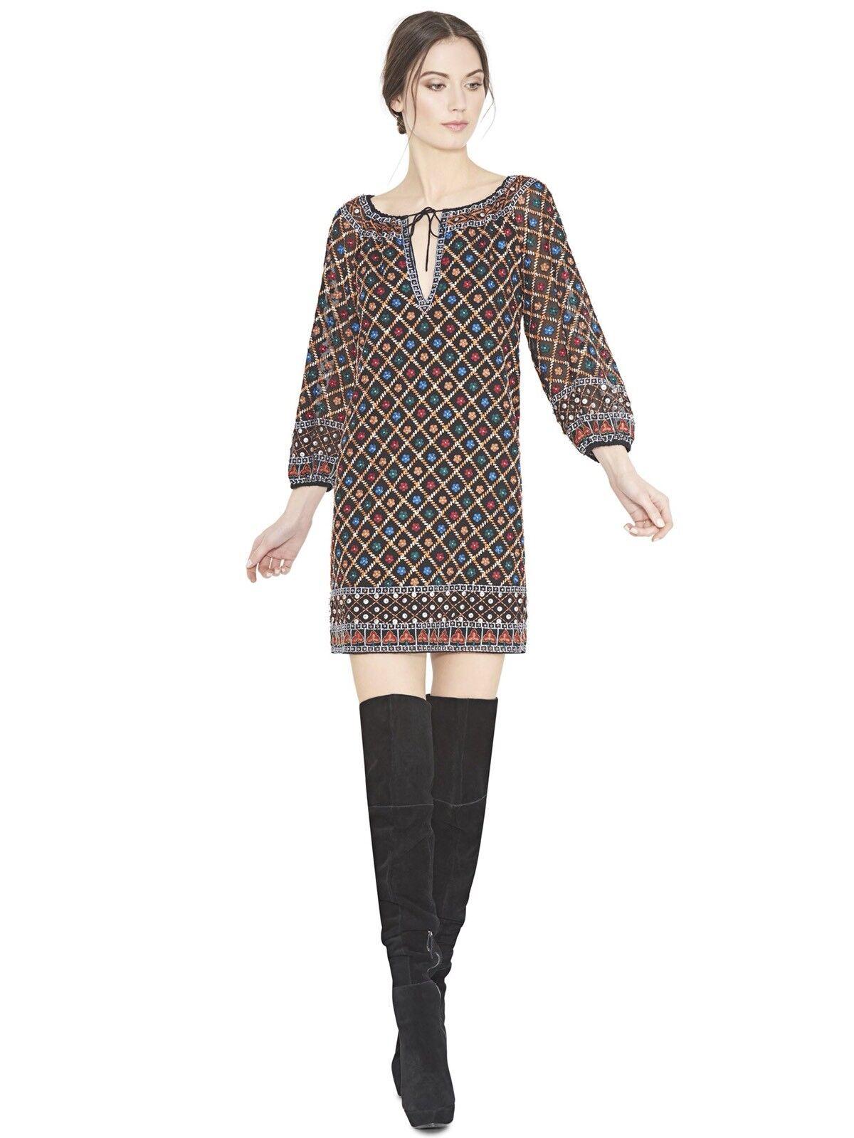 Alice + Olivia Gillian Embroidered Silk Dress Size M NWOT NWOT NWOT f554da