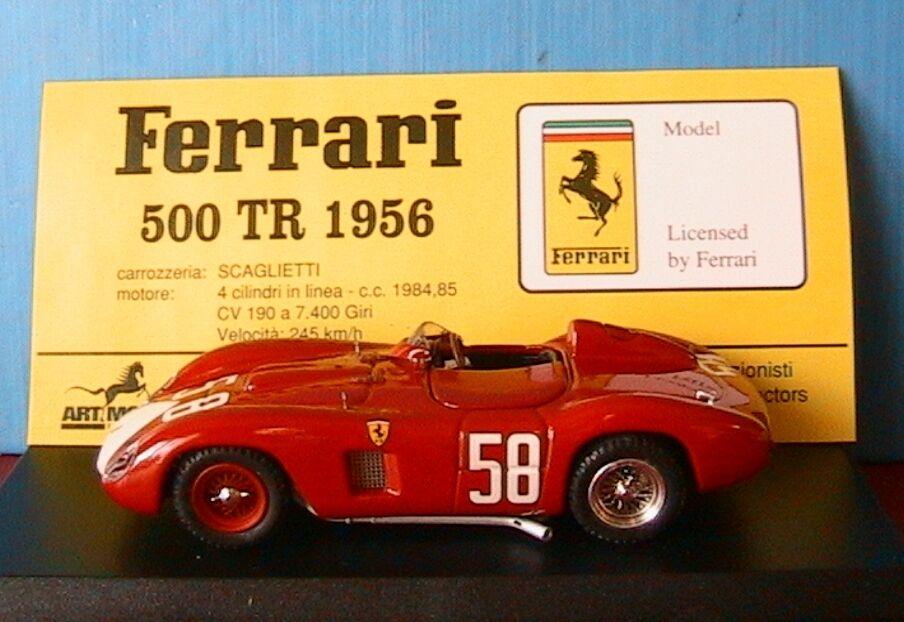 FERRARI 500 TR  58 MONZA 1956 STRABBA ART MODEL ART062 1 43 ITALIA ROUGE rouge