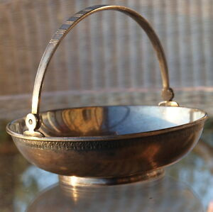 Bowl Henkel Nickel Silver Russian Moscow Jeweler Punch Art Deco Style 60er 70er