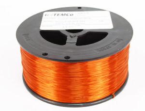 Enameled Amber Copper Magnet Wire 24G, 5925ft long - 7.5lb Spool