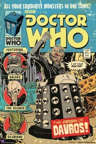 24x36 BBC TV DR CLASSIC 51333 ORIGIN OF DAVROS COMIC POSTER DOCTOR WHO