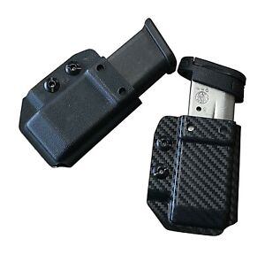 IWB-OWB-Kydex-Magazine-Holster-for-Glock-19-19x-Black-Carbon