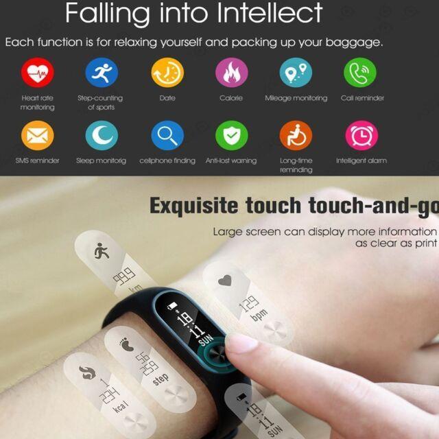 Waterproof Bluetooth Smart Heart Rate Bracelet Watch Fitness Activity Tracker UK